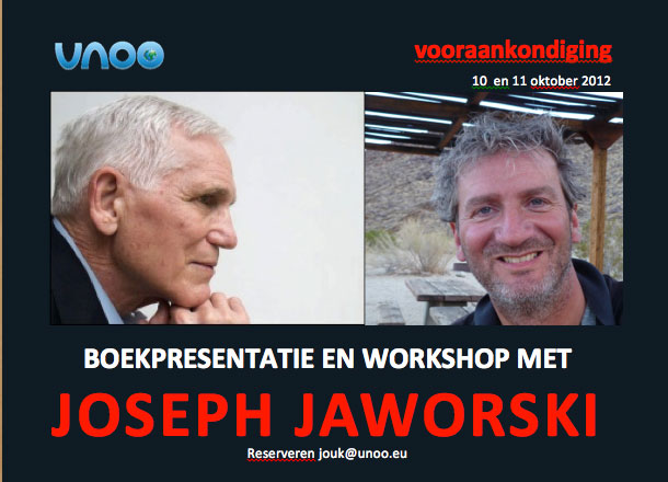 Workshop and book launch with Joseph Jaworski